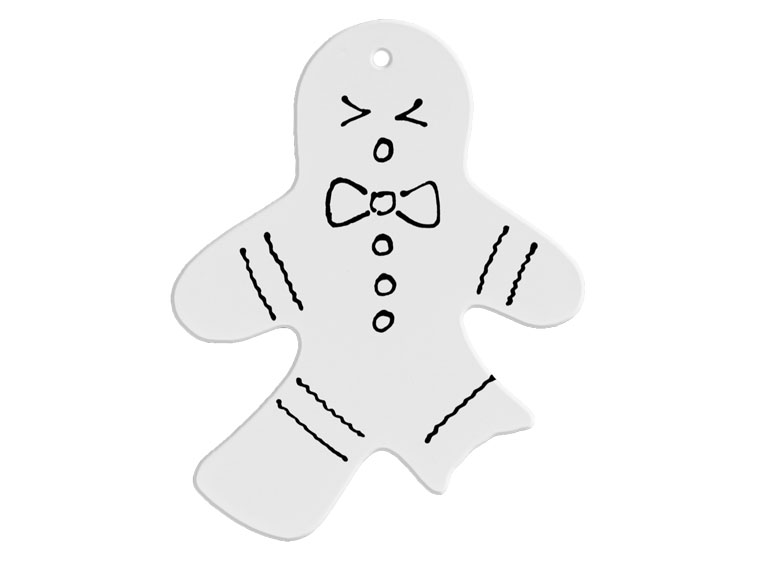 Hand Detailed Bite Me Gingerbread Man Party Ornament