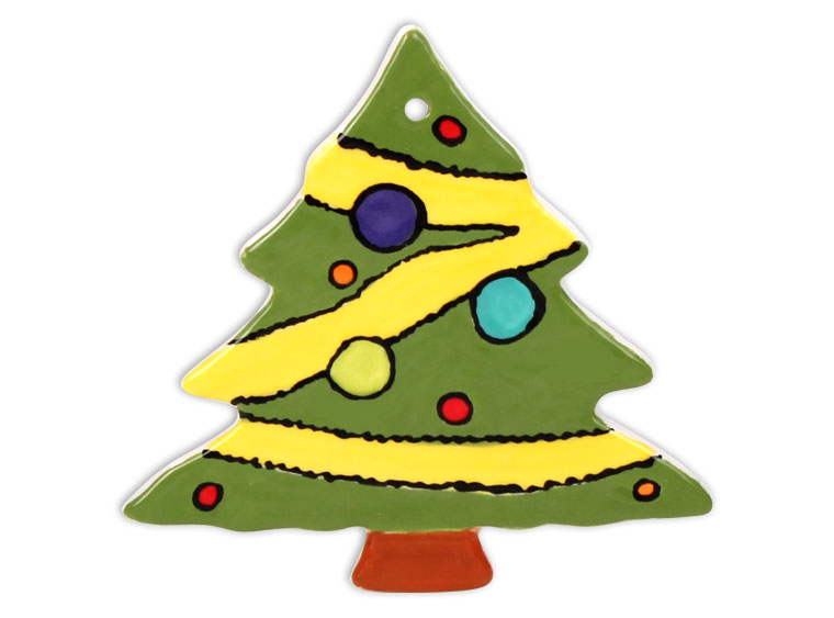 start a new tradition by painting your own ceramic christmas tree ornaments everyone will have a great time painting this pretty little tree ornament - Paint Your Own Ceramic Christmas Decorations