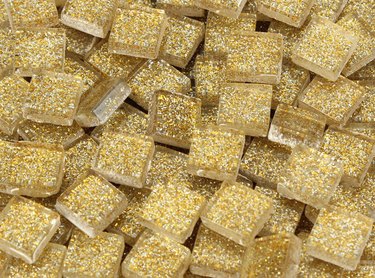 Cafe Au Lait Glitter Mosaic Tile 10 Mm